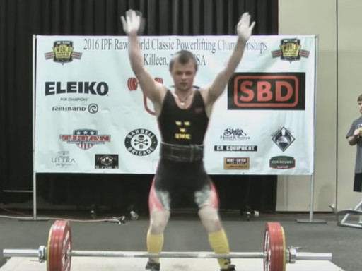 Eddie Berglund World Powerlifting Champion 2016